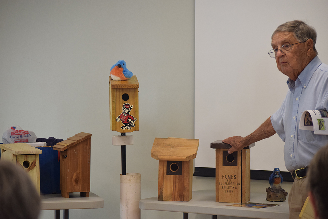picture of Bill Satterwhite with bluebird nestboxes